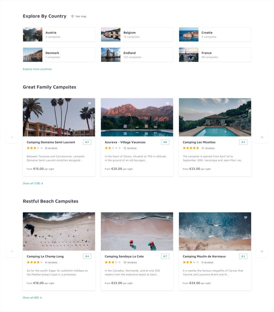Campsites Catalog