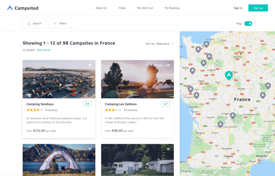 Search Campsites by Country