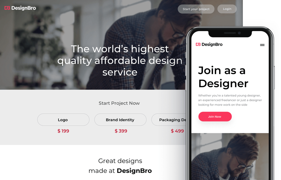 DesignBro is a design marketplace