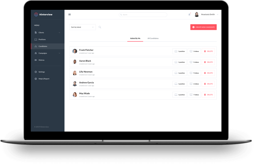 A centralized hiring dashboard
