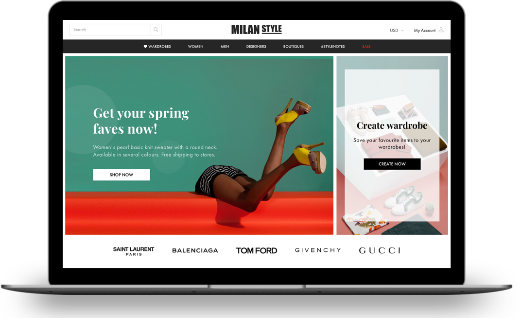 An Online Fashion Platform for Shoppers