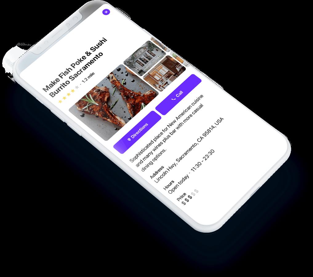 A Tinder-like interface with card swipes
