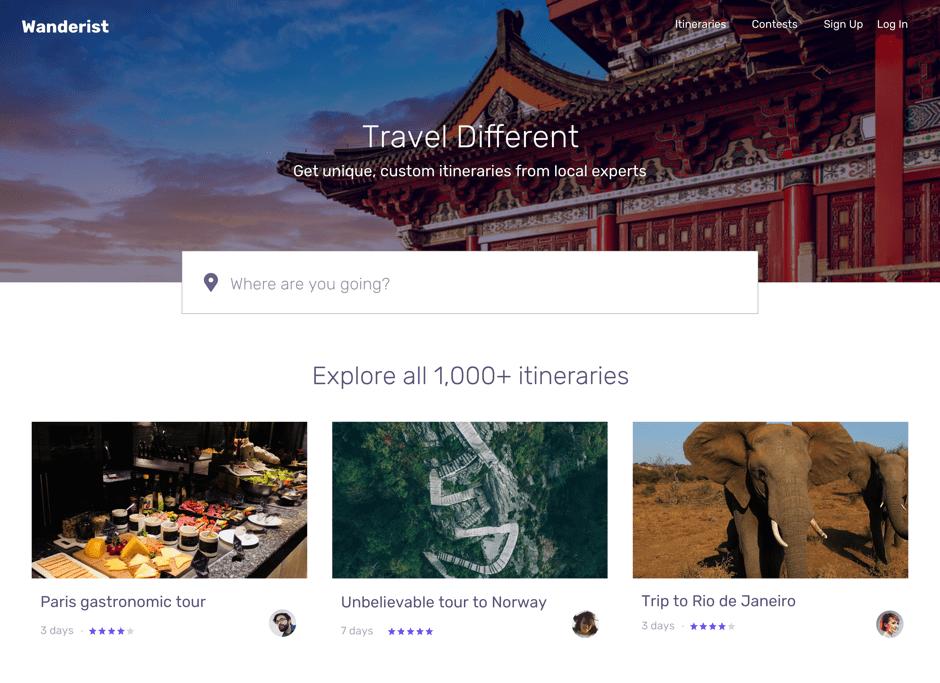 Wanderist for travelers